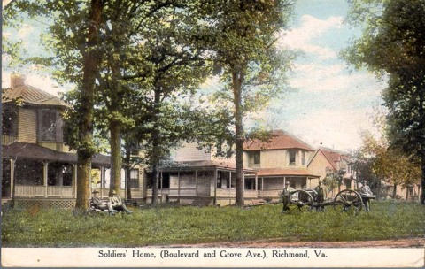 Soldiers Home postcard